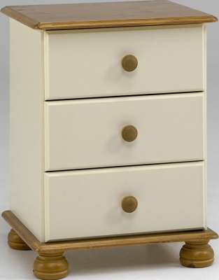 Steens Richmond 3 drawer bedside unit in cream