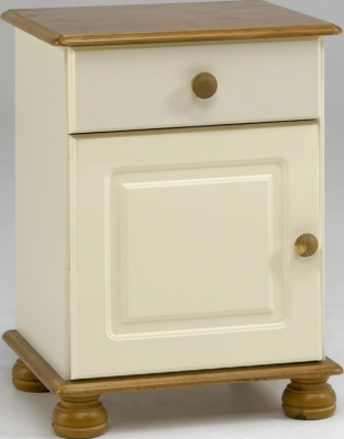 Steens Richmond 1 drawer 1 door bedside cupboard in cream