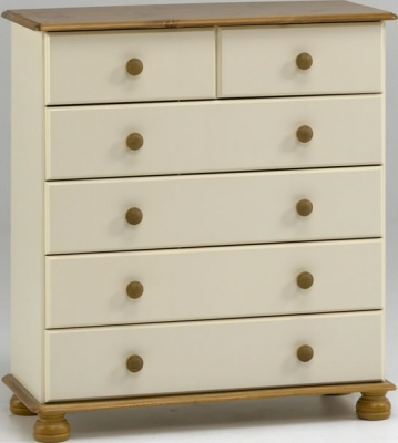 Steens Richmond 2 plus 4 drawer chest in cream