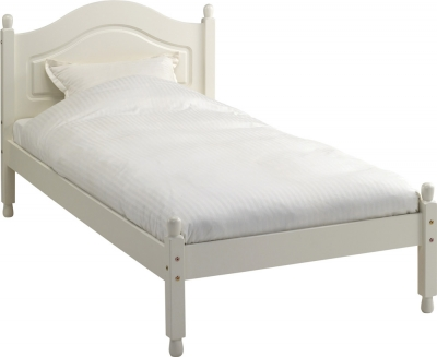 Steens Richmond Carlton single bed in white