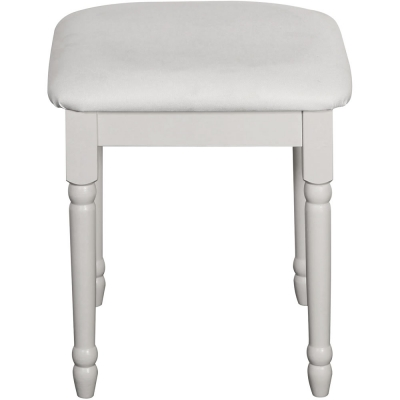 Steens Richmond white dressing table stool