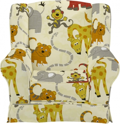 Just4Kidz Jungle Party wing chair