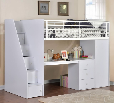 Dakota High Sleeper Bed With Storage Staircase