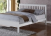 Pentre Hardwood White Bed Frame