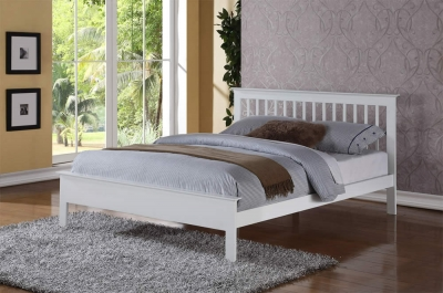 Flintshire Furniture Pentre Hardwood White Bed Frame