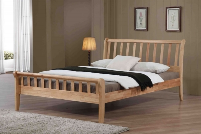 Flintshire Furniture Padeswood Hardwood Oak Bed Frame