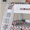 Flick Triple Bunk Bed White by Flair Furnishings
