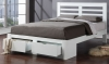 Flintshire Furniture New Bretton Hardwood White 2 Drawer Bed Frame