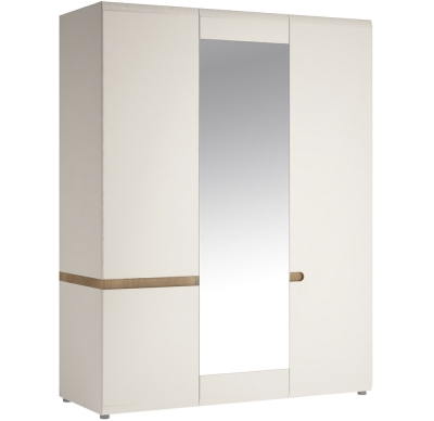 Furniture To Go Chelsea 3 Door Wardrobe 1 Mirrored Door