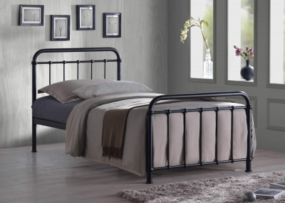 Time Living Miami Black Metal Bed Frame