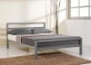 Time Living City Block Grey Metal Bed Frame
