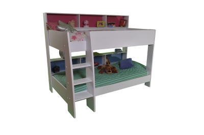Parisot Tam Tam White Bunk Bed With Shelves The Home And Office Stores