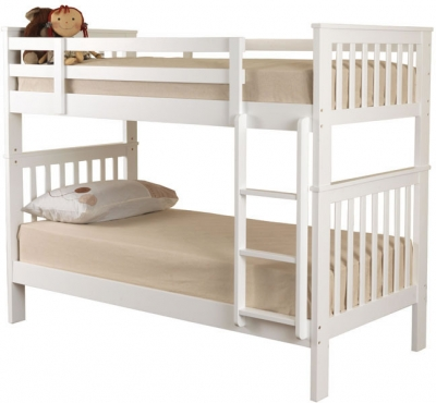 Sweet Dreams Marvel White Bunk Bed