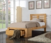 New Bretton Hardwood Oak 1 Drawer Bed Frame