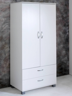 Flexa Nordic Wardrobe Flat White Doors