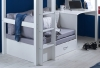 Flexa Nordic High Sleeper Bed 3 Flat White Ends Silver Futon