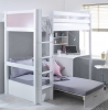 Flexa Nordic High Sleeper Bed 3 Rose Gable Ends Silver Futon