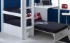 Flexa Nordic High Sleeper Bed 3 Tongue Groove Black Futon