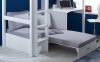 Flexa Nordic High Sleeper Bed 3 Tongue Groove Silver Futon