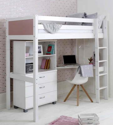 Flexa Nordic High Sleeper Bed 4 Rose Gable Ends