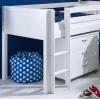 Flexa Nordic Mid Sleeper Bed 2 Flat White Gable Ends