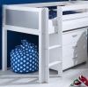 Flexa Nordic Mid Sleeper Bed 2 Grey Gable Ends