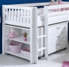 Flexa Nordic Mid Sleeper Bed 3 Slatted Gable Ends