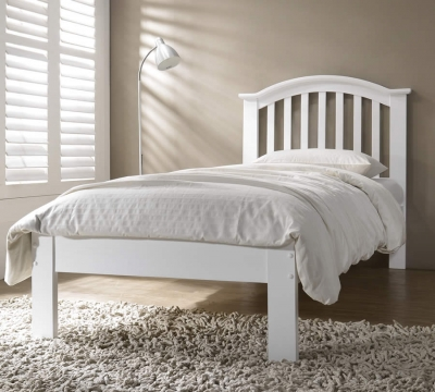 Leeswood Hardwood White Bed Frame