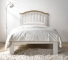 Flintshire Furniture Leeswood Hardwood Grey Oak Bed Frame
