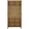 Furniture To Go Cortina Tall Wide 2 Door Display Cabinet Oak