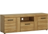 FTG Cortina 2 Door 1 Drawer Tall TV Cabinet Oak