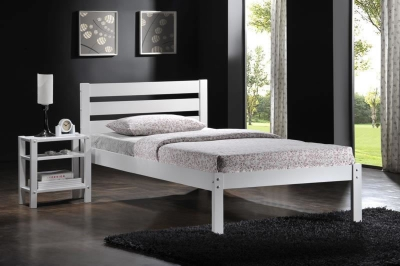 Eco White Single Bed Frame