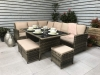 Charlotte Natural Corner Sofa Garden Dining Set