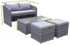 Signature Weave Gemma Grey Stacking Compact Sofa Garden Dining Set