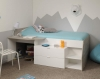 Parisot Milky Mid Sleeper Bed
