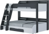 Flair Furnishings Flick Triple Bunk Bed Grey