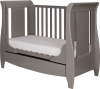 Tutti Bambini Katie Space Saver Grey Sleigh Cot Bed with Drawer