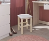 Parisot Beauty Bar Oak & White Dressing Table Stool