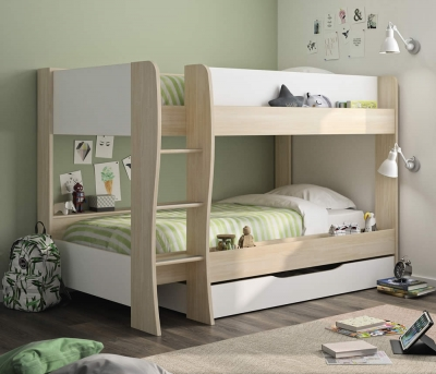 Gami Roomy Bunk Bed with Under Bed Storage Drawer