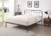 Flintshire Furniture Oakenholt Black Silver Metal Bed Frame