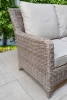 Sarah Corner Sofa 8mm Grey Weave Lift Up Table Garden Dining Set