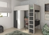 Trasman Mont Blanc High Sleeper Bed with Desk and Wardrobe