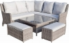 Signature Weave Alexandra Corner Sofa with Lift Up Table Garden Dining Set