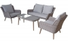 Signature Weave Danielle 4 Seat Sofa Grey Wicker Garden Set