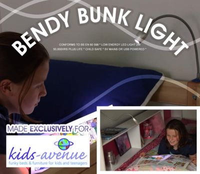 Kids Avenue LED Bendy Bunk Light