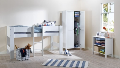 Flexa Modern white mid sleeper bed