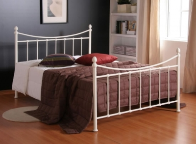 Time Living Alderley Ivory Metal Bed Frame