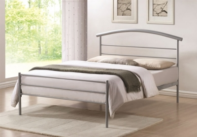 Time Living Brennington Silver Metal Bed Frame