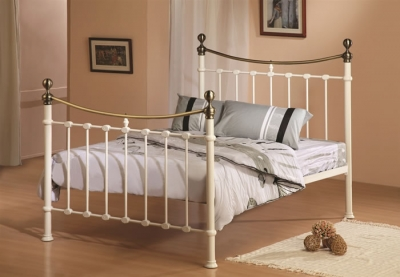 Time Living Elizabeth Ivory Metal Bed Frame