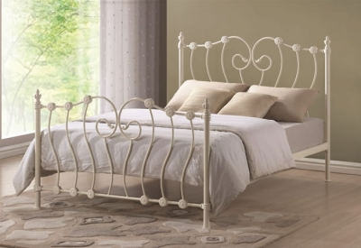 Time Living Inova Ivory Metal Bed Frame